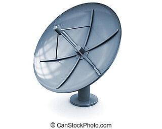 satellite antenna - 3d illustration of satellite antenna...