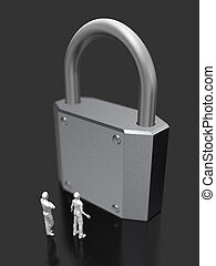 3D illustration of security