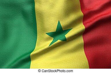 3D Illustration of Senegal Flag