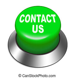 3d Illustration of shiny Contact us button