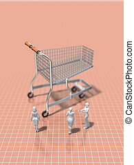 3D illustration of shopping.