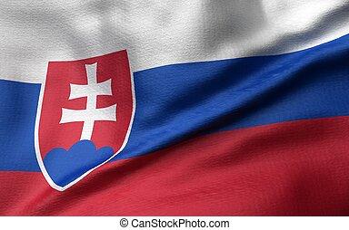 3D Illustration of Slovakia Flag