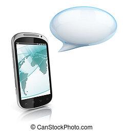 smart phone - 3d illustration of smart phone
