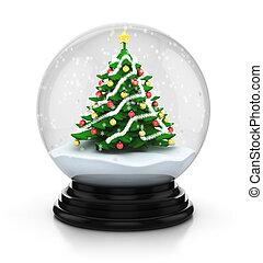 snowdome christmas tree