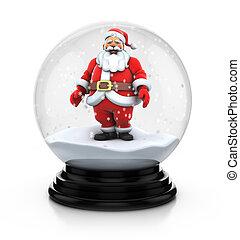 snowdome santa