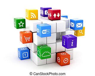 software concept - 3d illustration of software concept....