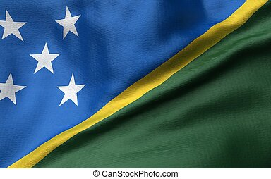 3D Illustration of Solomon Islands Flag