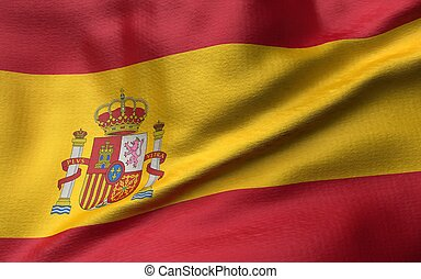 3D Illustration of Spain Flag
