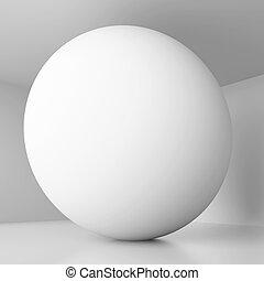 Sphere Background - 3d Illustration of Sphere Background