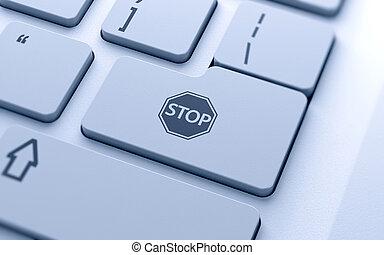 STOP icon button