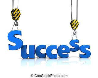 success building - 3d illustration of success building...