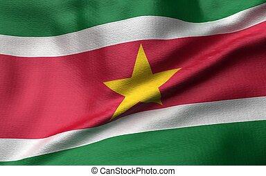 3D Illustration of Suriname Flag