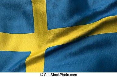 3D Illustration of Sweden Flag