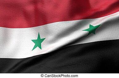 3D Illustration of Syria Flag