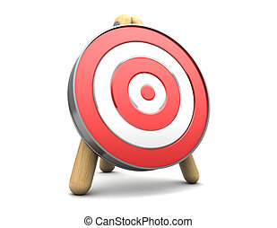 target - 3d illustration of target stand over white ...