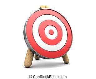 target - 3d illustration of target stand over white ...