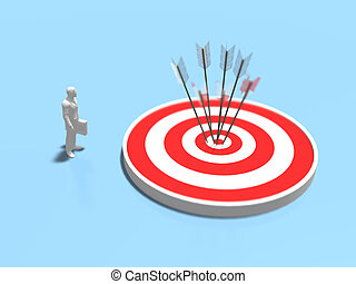 3D illustration of target.