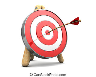 target - 3d illustration of target with arrow in center