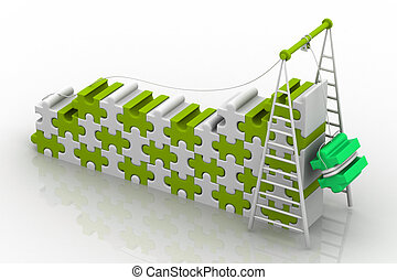 3d illustration of Teamwork