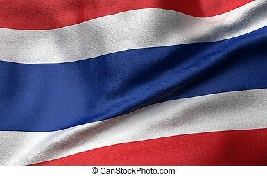 3D Illustration of Thailand Flag