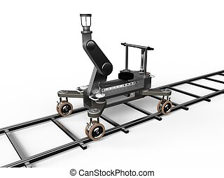 camera dolly - 3D illustration of the camera dolly isolated