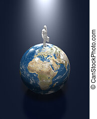 3D illustration of the earth.