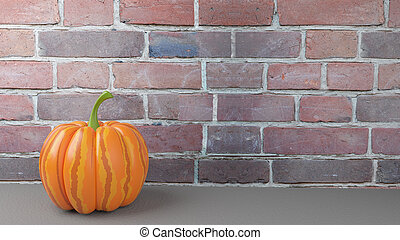 3d Illustration of the Great Pumpkin