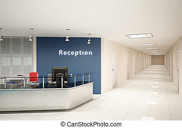 3d illustration of the modern office room