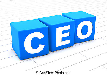 3D illustration of the word CEO