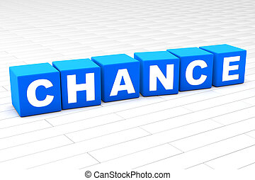 3D illustration of the word Chance