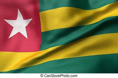 3D Illustration of Togo Flag