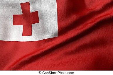 3D Illustration of Tonga Flag