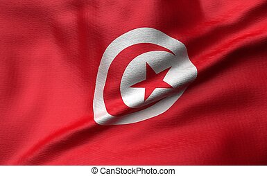 3D Illustration of Tunisia Flag