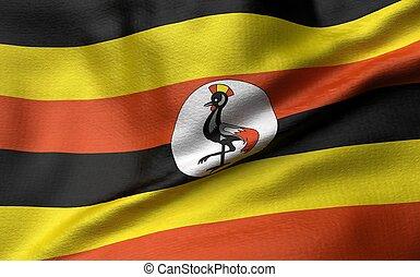 3D Illustration of Uganda Flag