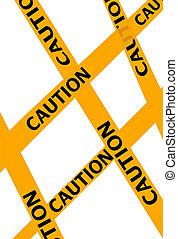 illustration of warning ribbons