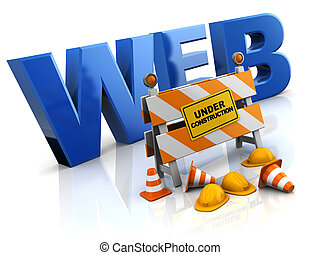 website under construction - 3d illustration of website...