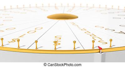 3d illustration of wheel of luck.