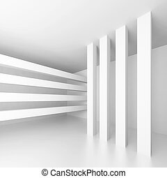 Abstract Architectural Shape - 3d Illustration of White...