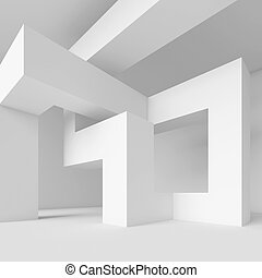 Abstract Architecture - 3d Illustration of White Abstract ...