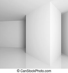 Interior Background - 3d Illustration of White Abstract...
