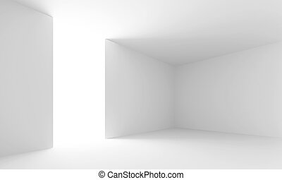 Interior - 3d illustration of White Abstract Interior...