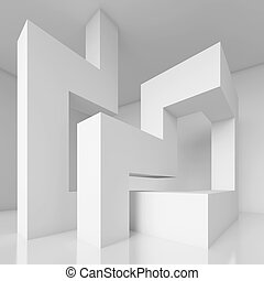 Interior Design - 3d Illustration of White Interior Design