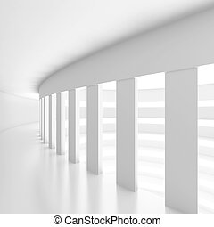 Modern Architecture Background - 3d Illustration of White...