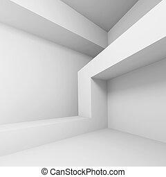 Modern Architecture Design - 3d Illustration of White Modern...