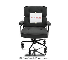 3d illustration. Office chair with vacant sign