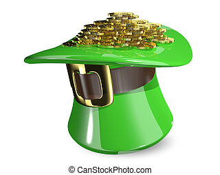 St. Patrick's hat with coins