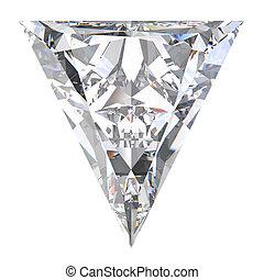 3D illustration triangle diamond stone