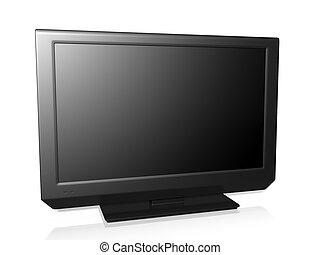 3d illustration: TV on a white background