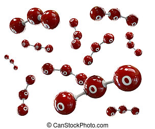 3D Illustrator molecule of Azone on a white background