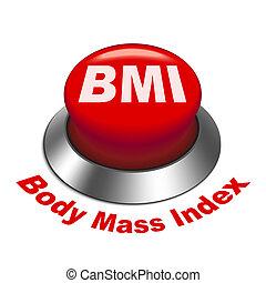 3d, ilustração, de, bmi, (, corporal, massa, index), botão
